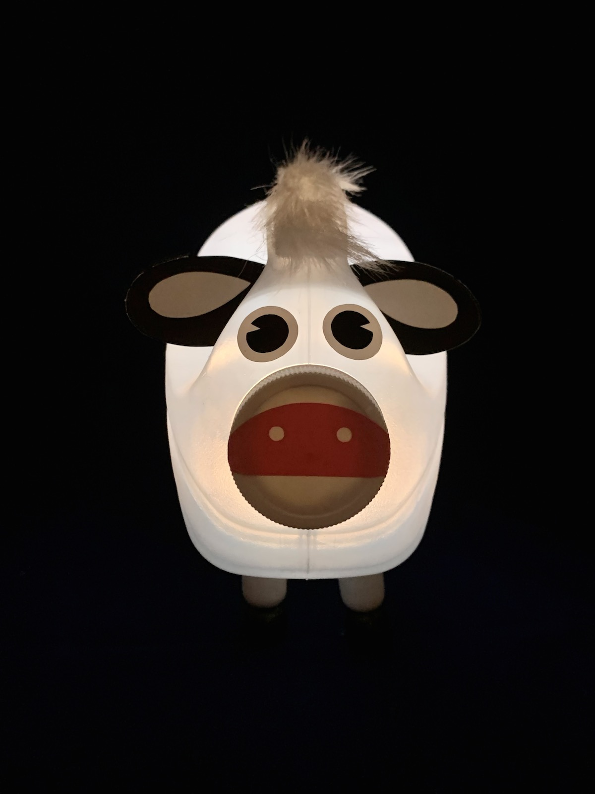 Bessie Bottlelamp DIY cow light