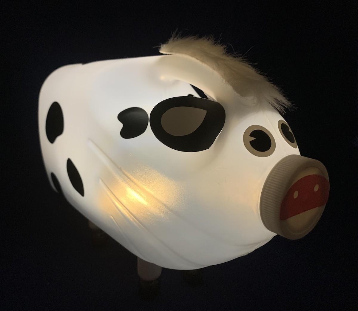 Bessie Bottlelamp cow light DIY