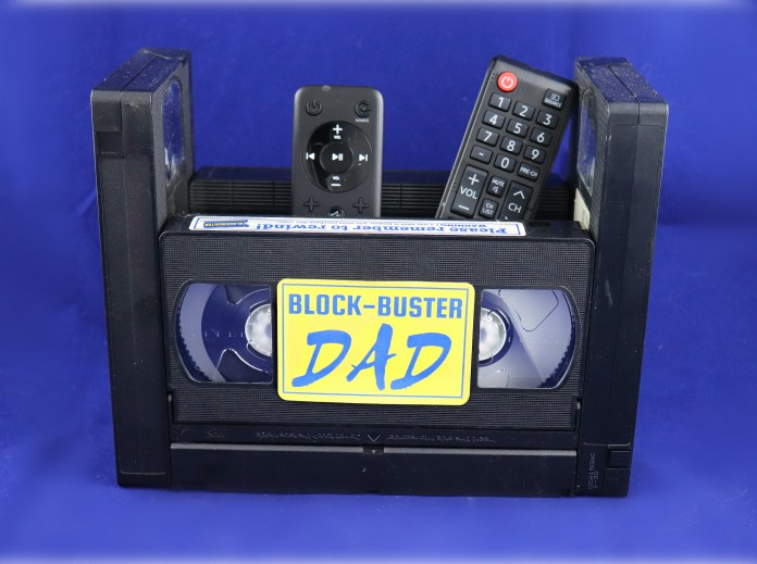 caddy box made with VHS tapes