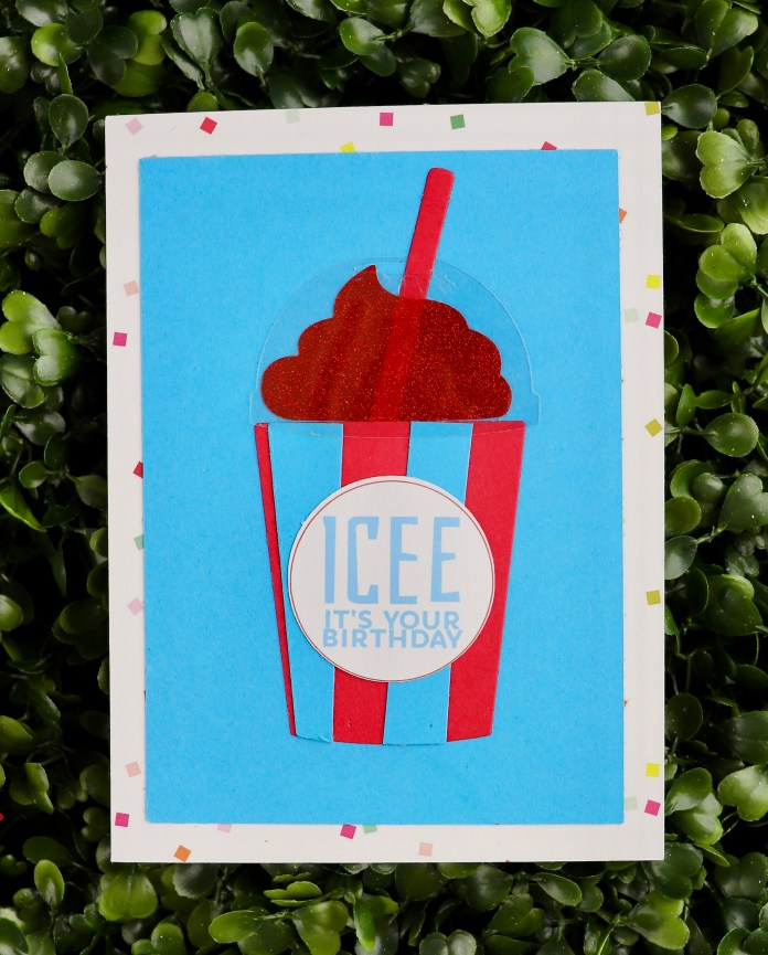 icee birthday card tutorial