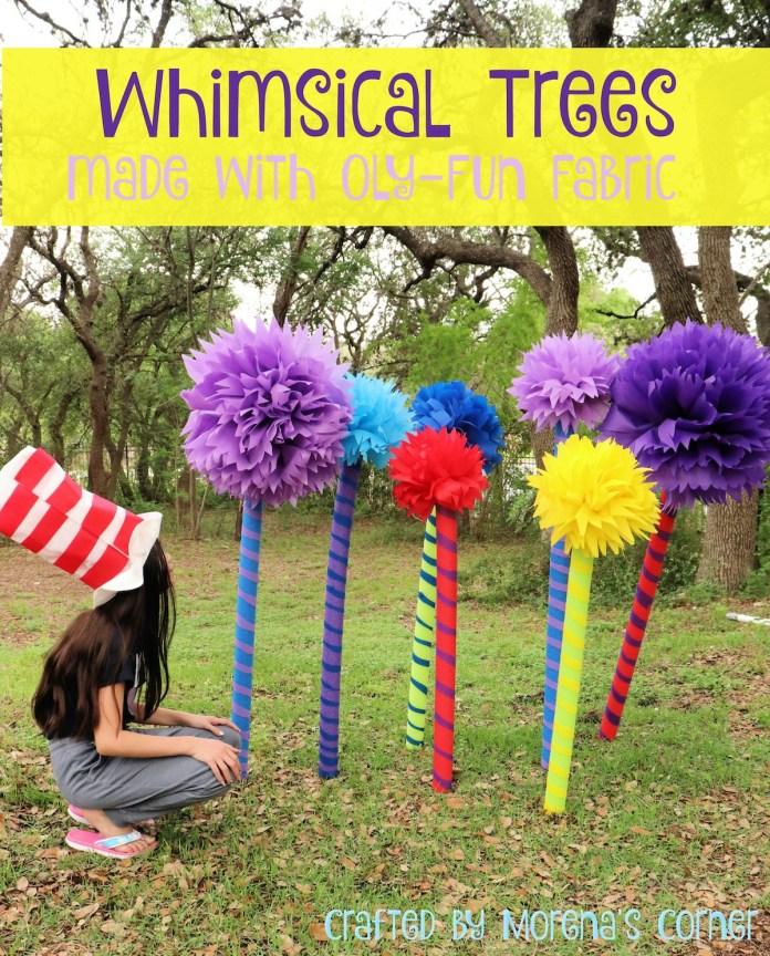 make whimsical trees for seuss week