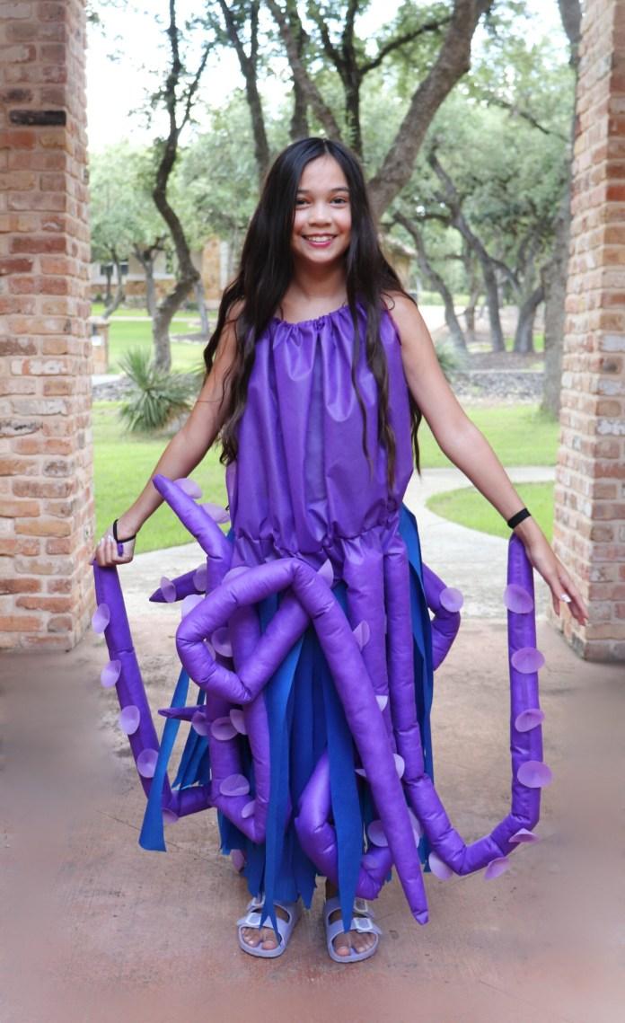 DIY octopus costume for tweens