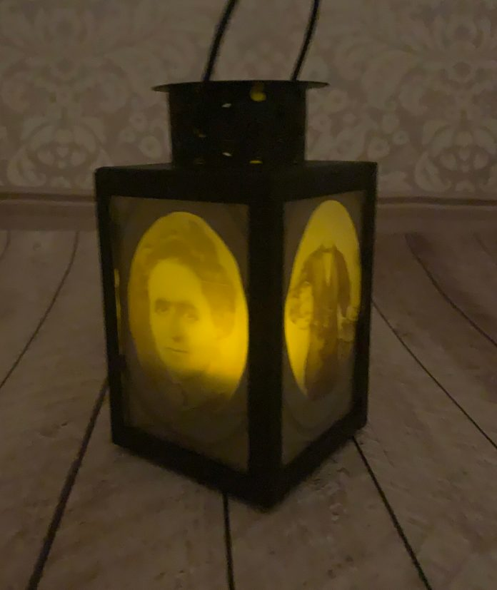how to make a DIY creepy people lantern