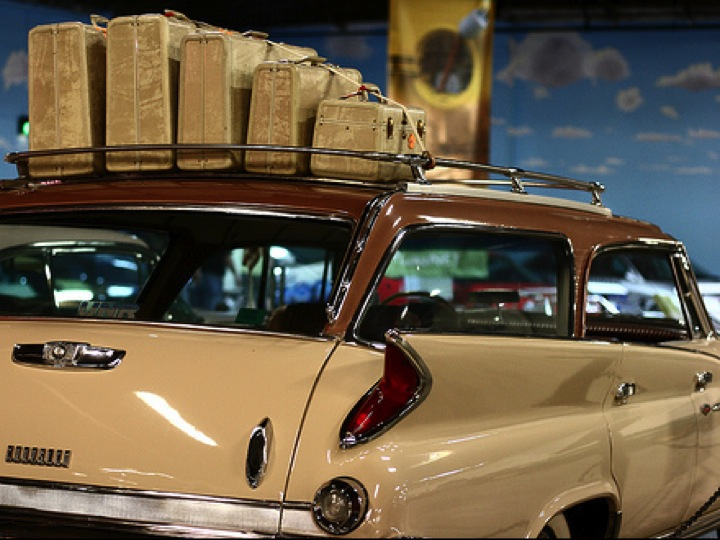 old car suitcases