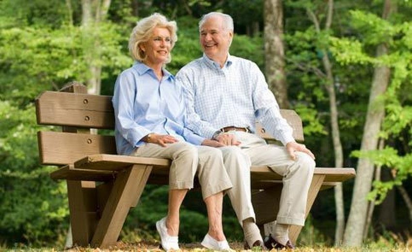 old people on a bench