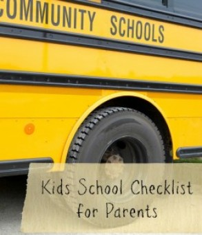 Kids School Checklist for Parents
