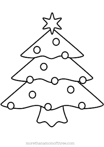 christmas coloring pages christmas tree | Free Kids Christmas Coloring Pages Printables - More Than ...