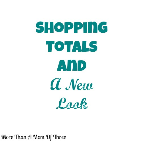 shopping totals and a new look