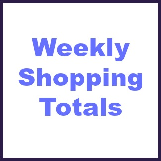 weekly shopping totals