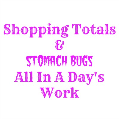 Shopping Totals & Stomach Bug All In A Day's Work