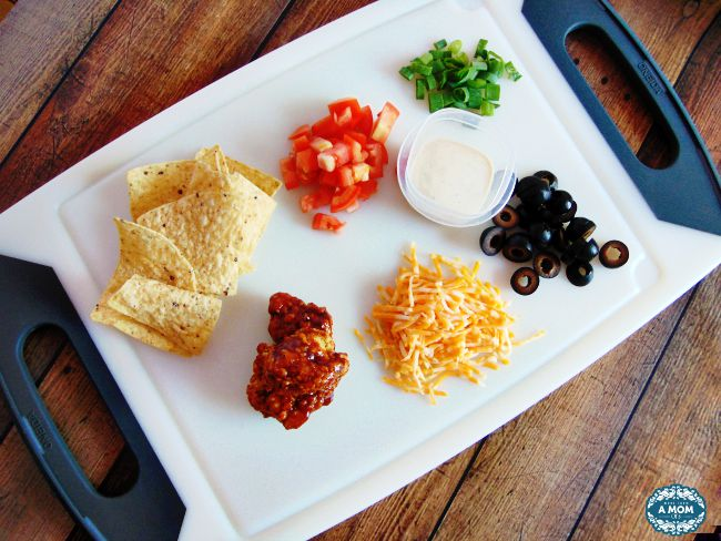 Loaded BBQ Chicken Nachos Ingredients