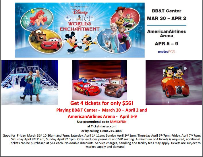Disney On Ice Worlds of Engagement Coupon