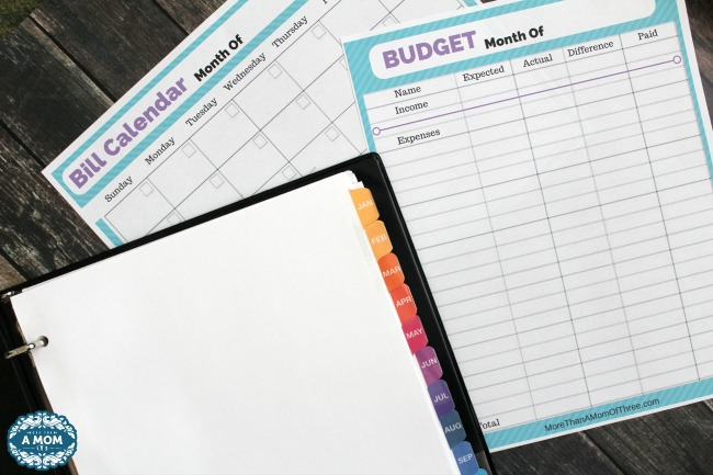 Organize Your Bills with A Bill Binder