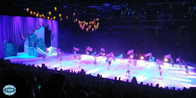 Tangled fans watch Rapunzel as she races to find the magic lights on Disney On Ice Reach For The Stars