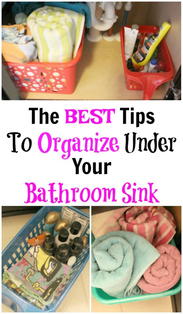 How To Organize Under Your Bathroom Sink on A Budget. tHE BEST TIPS TO STAY ORGANIZED!