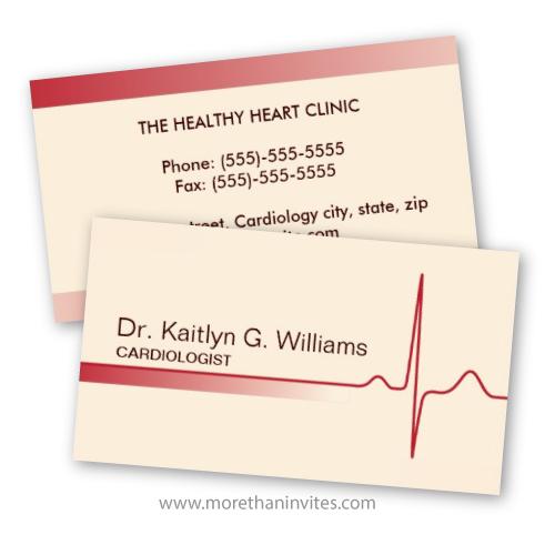 Doctor Business Card Cardiology Cardiologist Cardiac