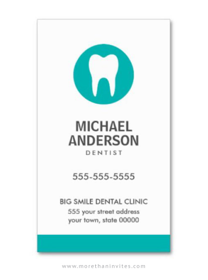 Minimal Dentist Or Dental Clinic Assistant Business Card