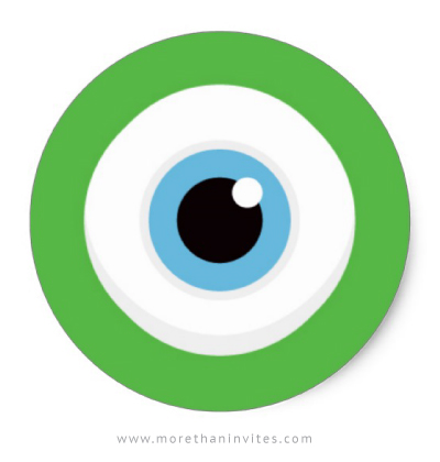 Green Monster Eye Stickers More Than Invites