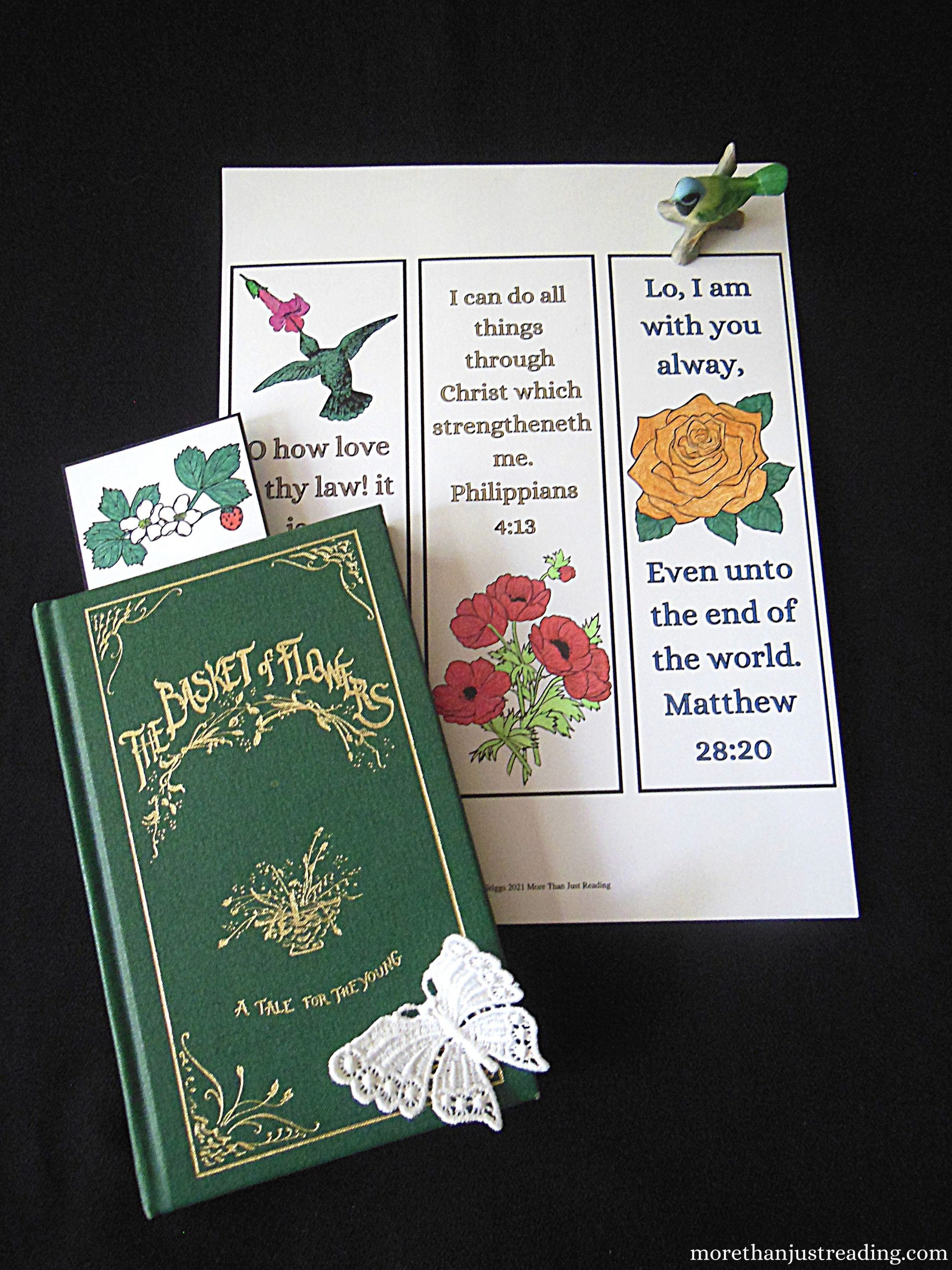 colored printable coloring bookmarks and a book