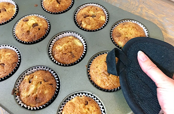 Banana Chocolate Chip Muffin Recipe featured by top US lifestyle blog, More Than Main Street.