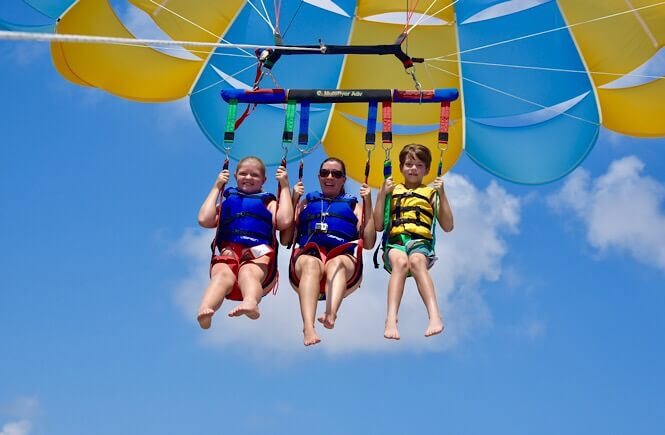 Parasailing in the Outer Banks NC