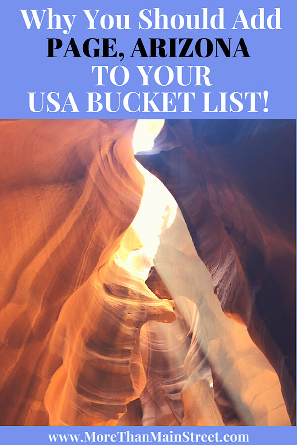 The Best 2 Things To Do in Page Arizona as featured by top US family travel blog, More than Main Street; Upper Antelope Canyon in Page Arizona