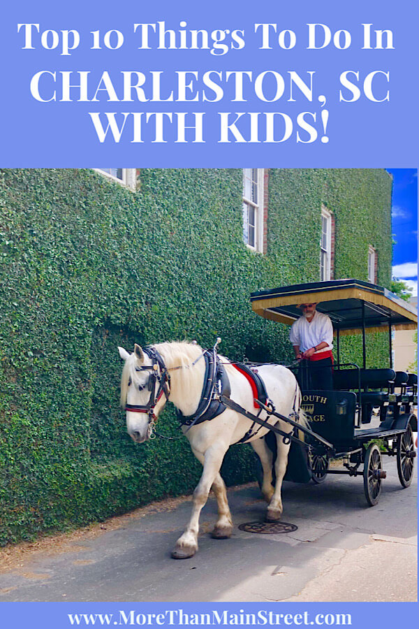 Top 10 Best things to do in Charleston SC with kids, tips featured by top US travel blog, More Than Main Street.: charleston sc carriage tour