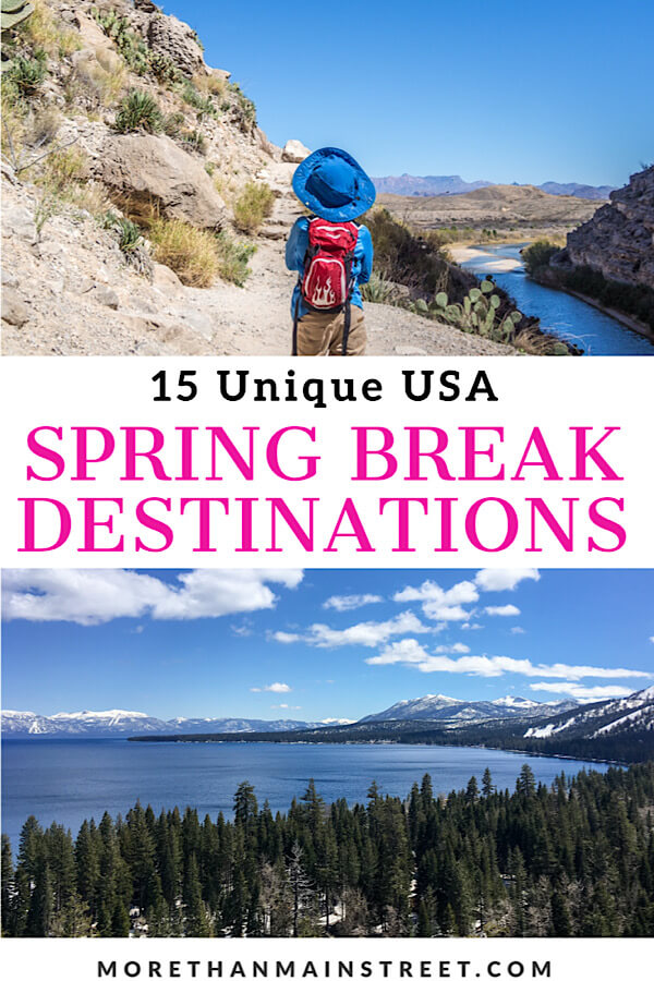 Top 15 best off the beaten path spring break destinations in the US for families featured by US family travel blog, More Than Main Street.
