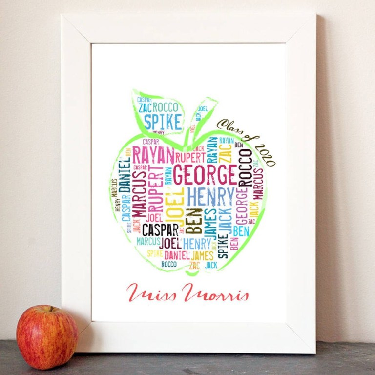 personalised apple gift for teachers