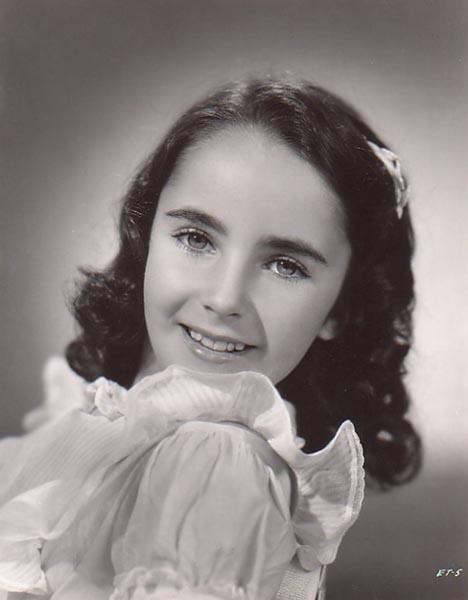 Liz Taylor was a beautiful child