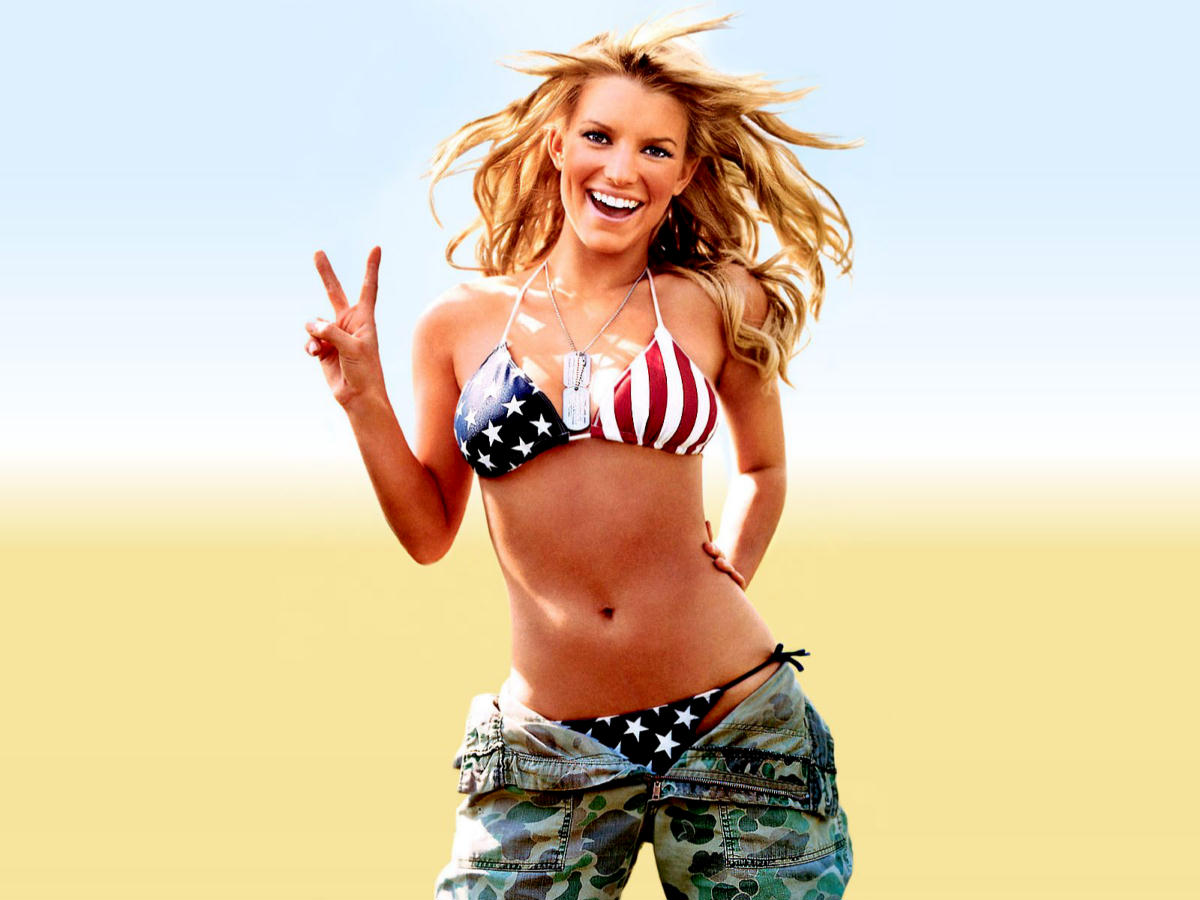 hot Jessica Simpson patriotic wallpaper
