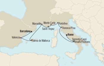 Our itinerary on the Oceania Marina