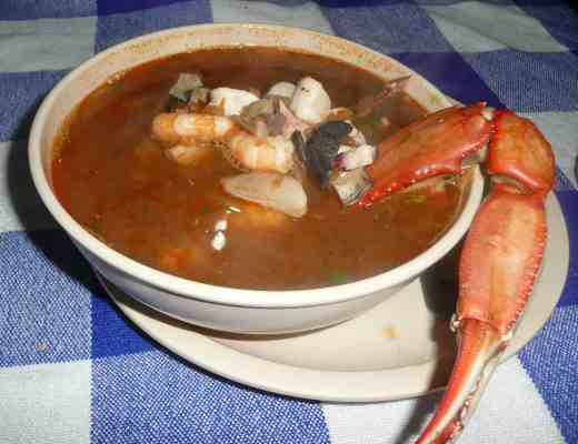 Seafood Soup at Taqueria Rossy