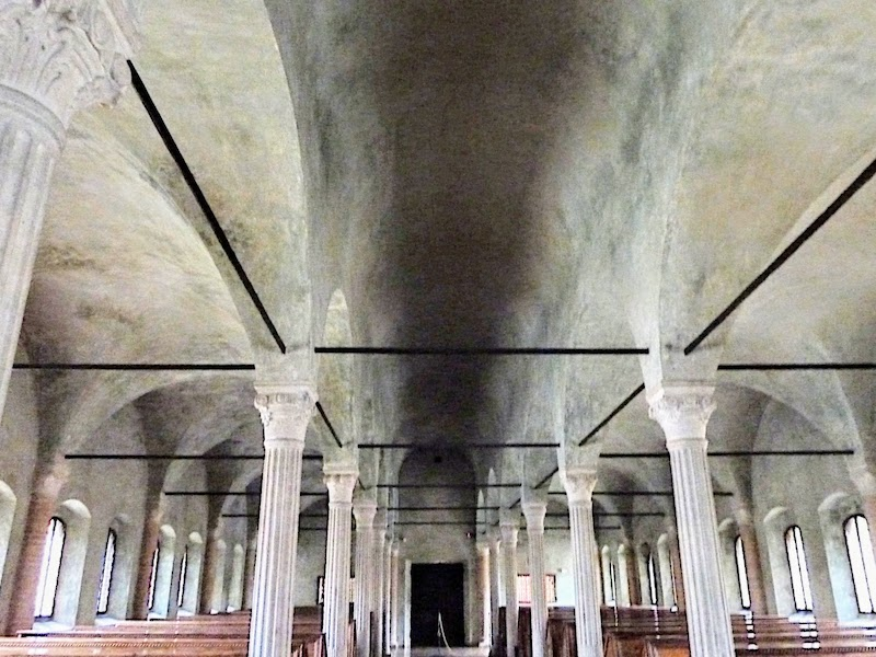 View of the Malatestiana Library ceiling