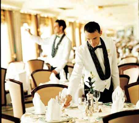 A Crystal Cruises Dining Room