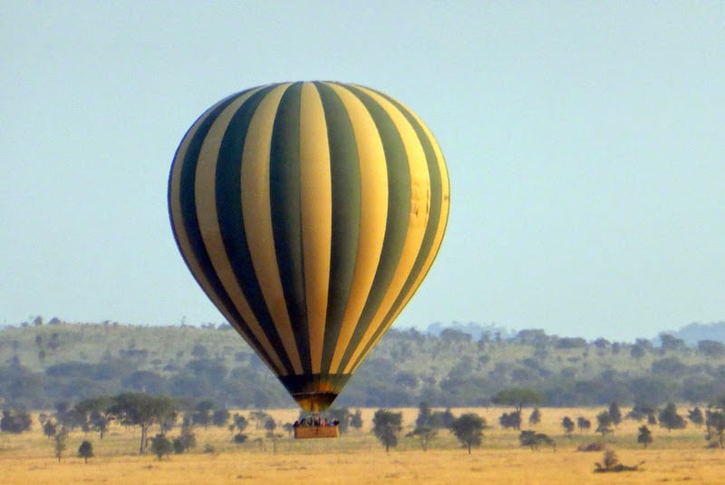 A hot-air balloon adventure at the Four Seasons Serengeti
