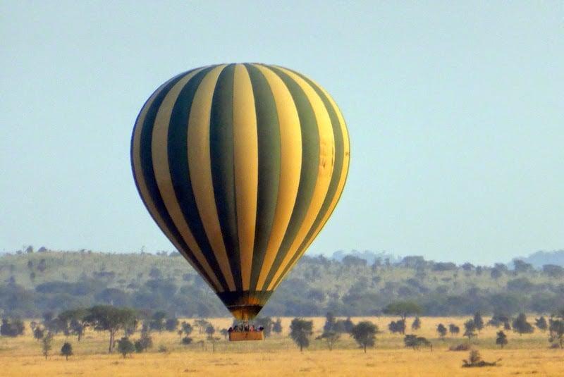 A hot-air balloon adventure at the Four Seasons Serengeti