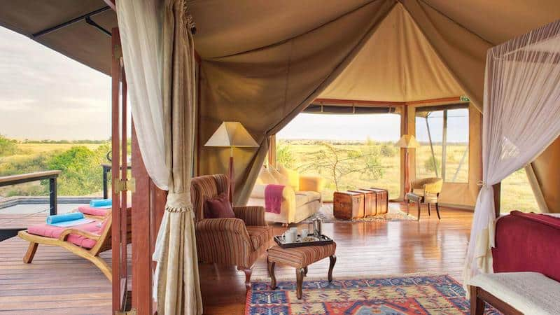 Perfect for the over-50 traveler, too: Honeymoon Suite at Olare Mara Kempinski
