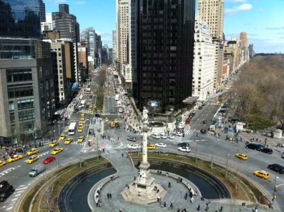 View of Columbus Circle from Robert