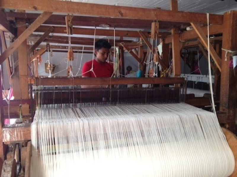 Loom used to make cotton textiles