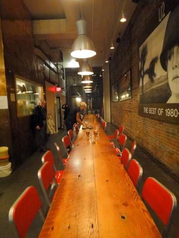 Long table at the Irish Heather Gastropub