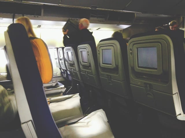 Slim-profile seats on Lufthansa 747-400