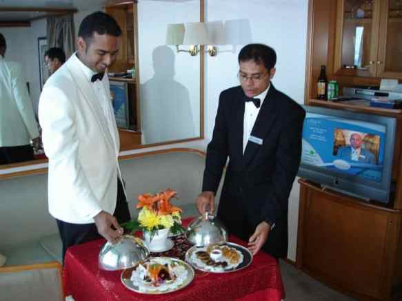 Butlers Ian and Gusti on Regent Seven Seas Voyager