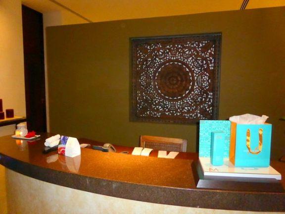 Reception desk at the spa at Grand Velas Riviera Maya