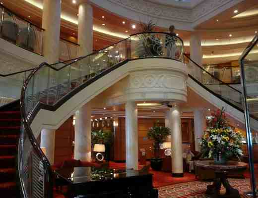 Atrium Lobby on Queen Mary 2