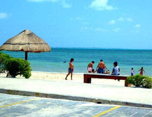Local beach at Puerto Juarez
