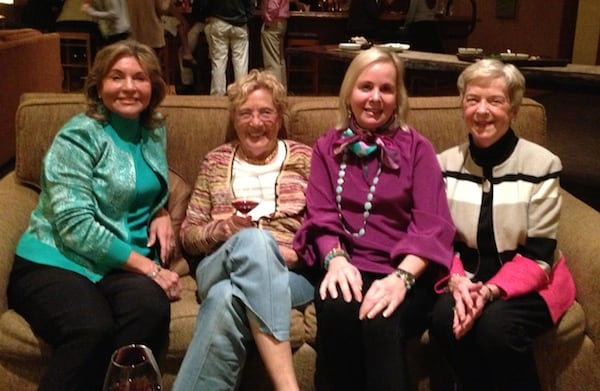 Cindy Galvin (in burgundy) and friends (credit: Sheryl Kraft)