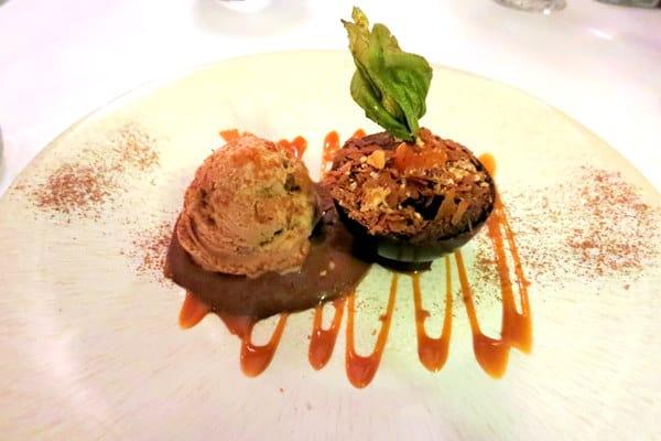 Chocolate ganache dessert
