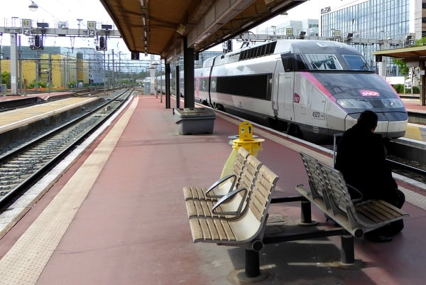 High-speed TGV train between Paris and Lyon
