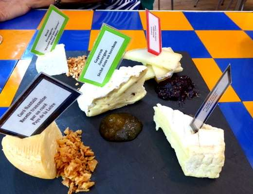 Our cheese board - tasty and photogenic